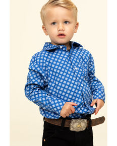 Cody James Toddler Boys' Astro Geo Print Button Long Sleeve Western Shirt , Royal Blue, hi-res