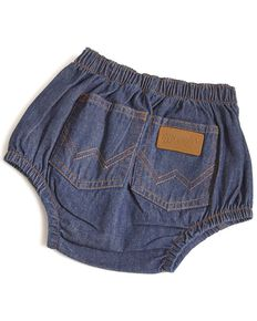 Wrangler Infant Diaper Cover Jeans, Indigo, hi-res