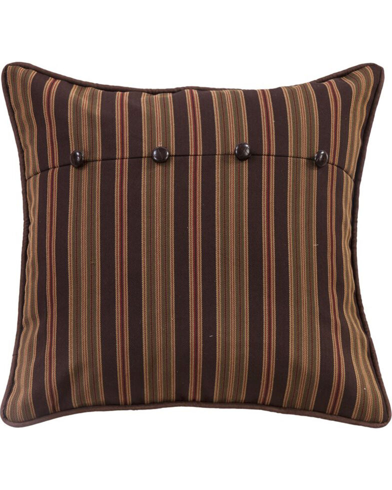 HiEnd Accents Forest Pine Stripe Euro Sham, Multi, hi-res