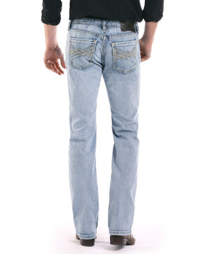 Rock & Roll Cowboy Men's Pistol Reflex Light Straight Jeans , Blue, hi-res