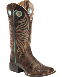 Ariat Women's Round Up Ryder Western Boots, Brown, hi-res