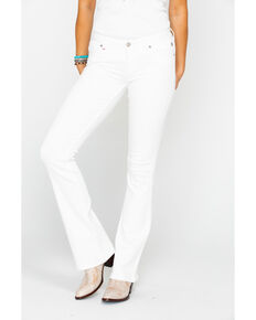 Idyllwind Women's White Denim Spotlight Bootcut Jeans , White, hi-res