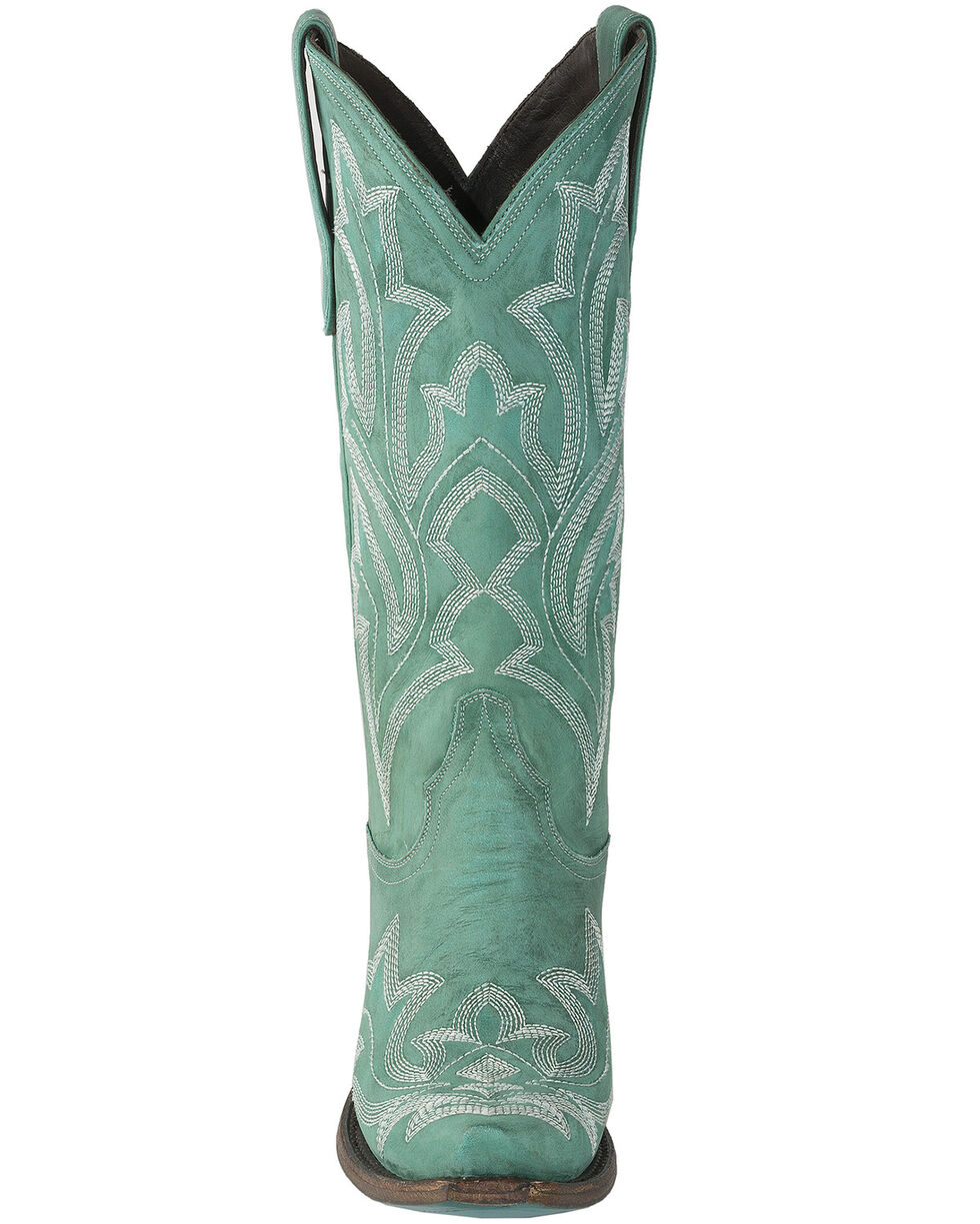 Lane Women's Saratoga Western Boots - Snip Toe, Turquoise, hi-res