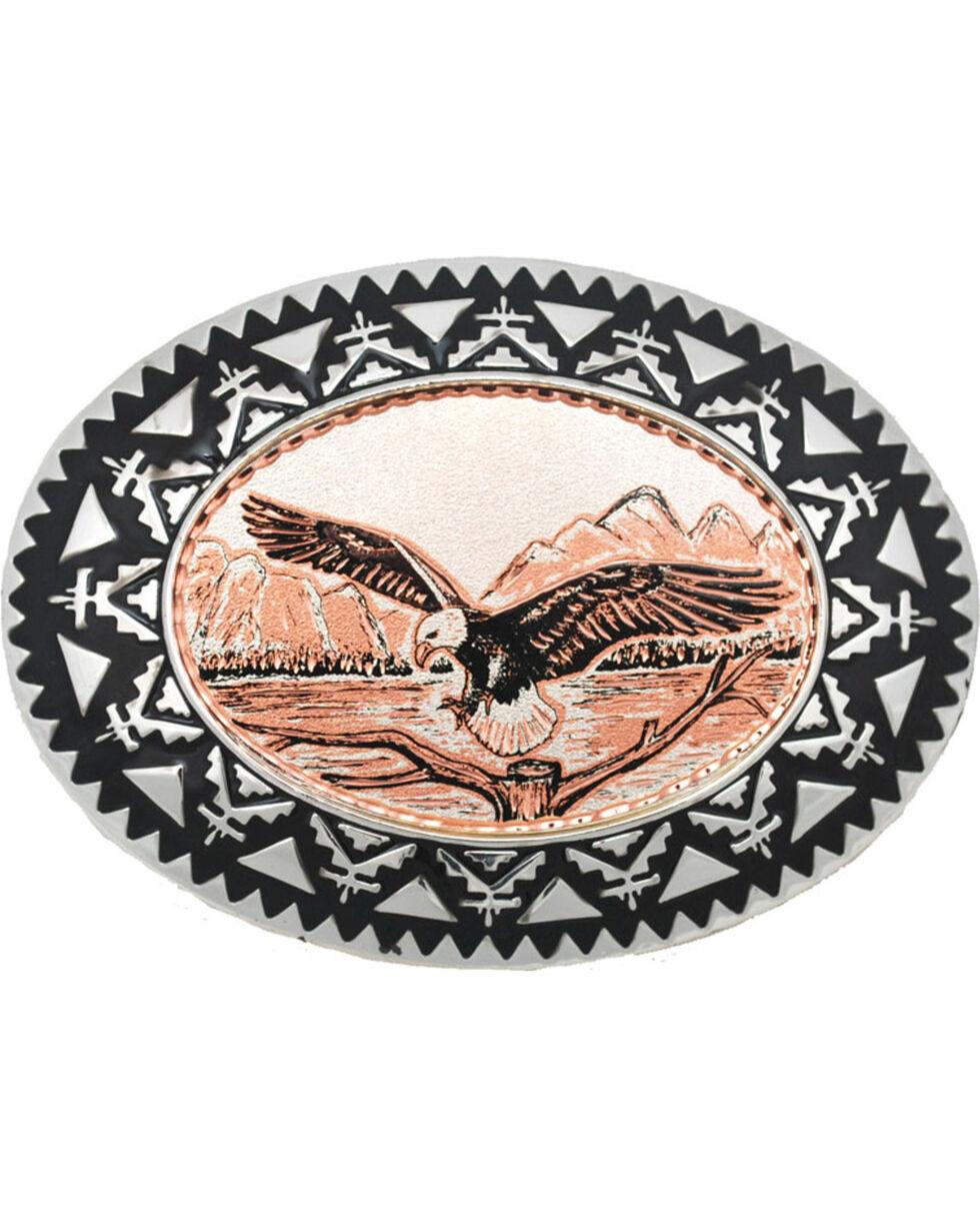 Western Express Men's Copper Eagle Belt Buckle , Rust Copper, hi-res