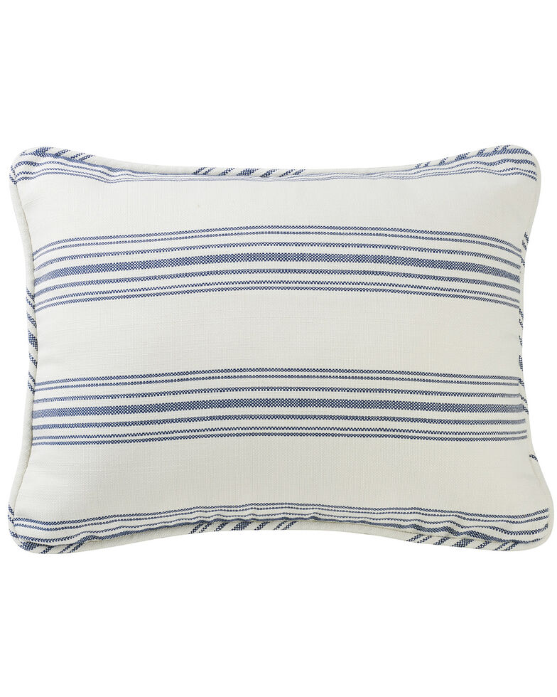 HiEnd Accents Prescott Navy Stripe Pillow Sham Set - King, Navy, hi-res