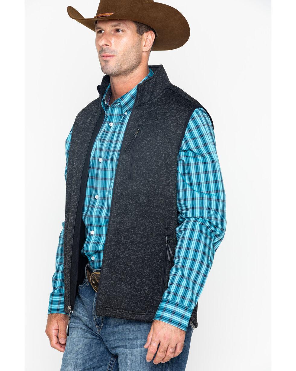 Cody James Men's Coal Minder Sweater Vest, Black, hi-res
