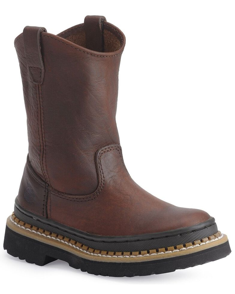 Georgia Children's Little Georgia Giant Wellington Boots, Brown, hi-res