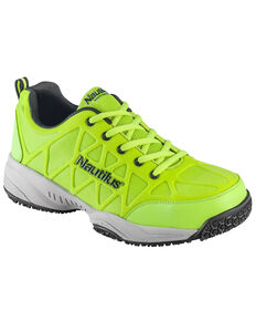 Nautilus Men's Neon Green Athletic Work Shoes - Composite Toe , Green, hi-res