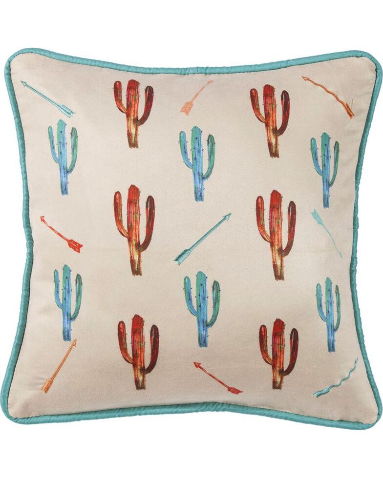 HiEnd Accents Cream Cactus Embroidered Pillow , Cream, hi-res