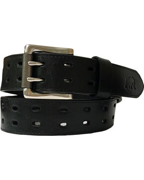 Berne Men's Genuine Leather Double Row Belt , Black, hi-res