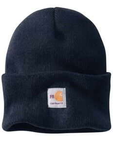 Carhartt Men's FR Navy Knit Watch Work Beanie , Navy, hi-res