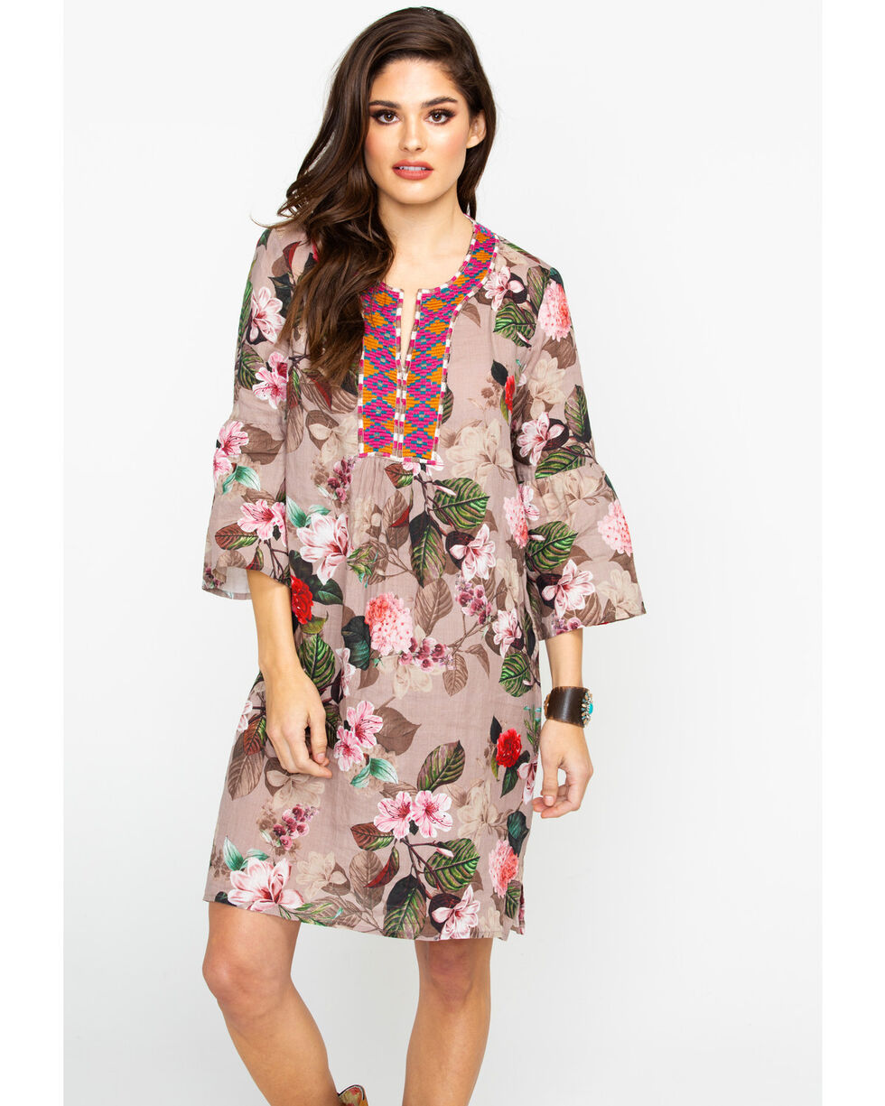 Johnny Was Women's Flare Sleeve Tunic Dress, Multi, hi-res