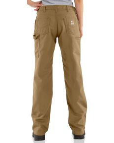 "Carhartt Flame Resistant Canvas Work Pants - 28"" Inseam, Khaki, hi-res"