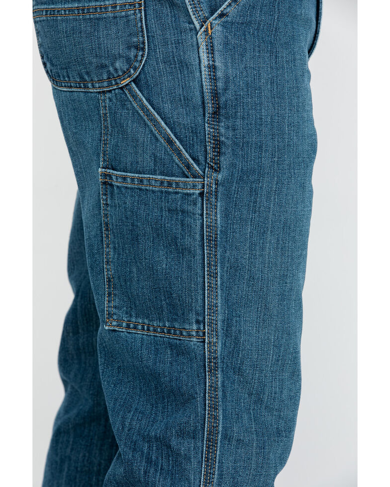 Carhartt Men's Holter Dungaree Relaxed Fit Work Jeans , Indigo, hi-res
