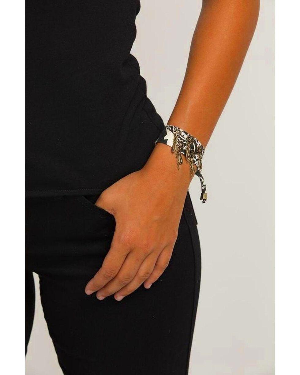 Idyllwind Women's Bandana Outlaw Bracelet, Black, hi-res