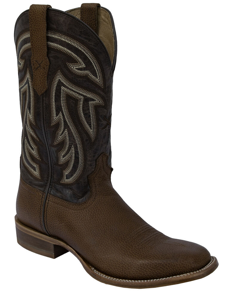 Twisted X Men's Rancher Western Boots - Square Toe, Brown, hi-res
