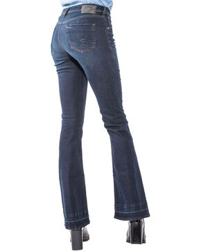 Silver Women's Izzy Dark Wash Boot Cut Jeans, Indigo, hi-res