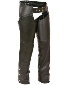 Milwaukee Leather Women's Classic Hip Chaps - 3X, Black, hi-res