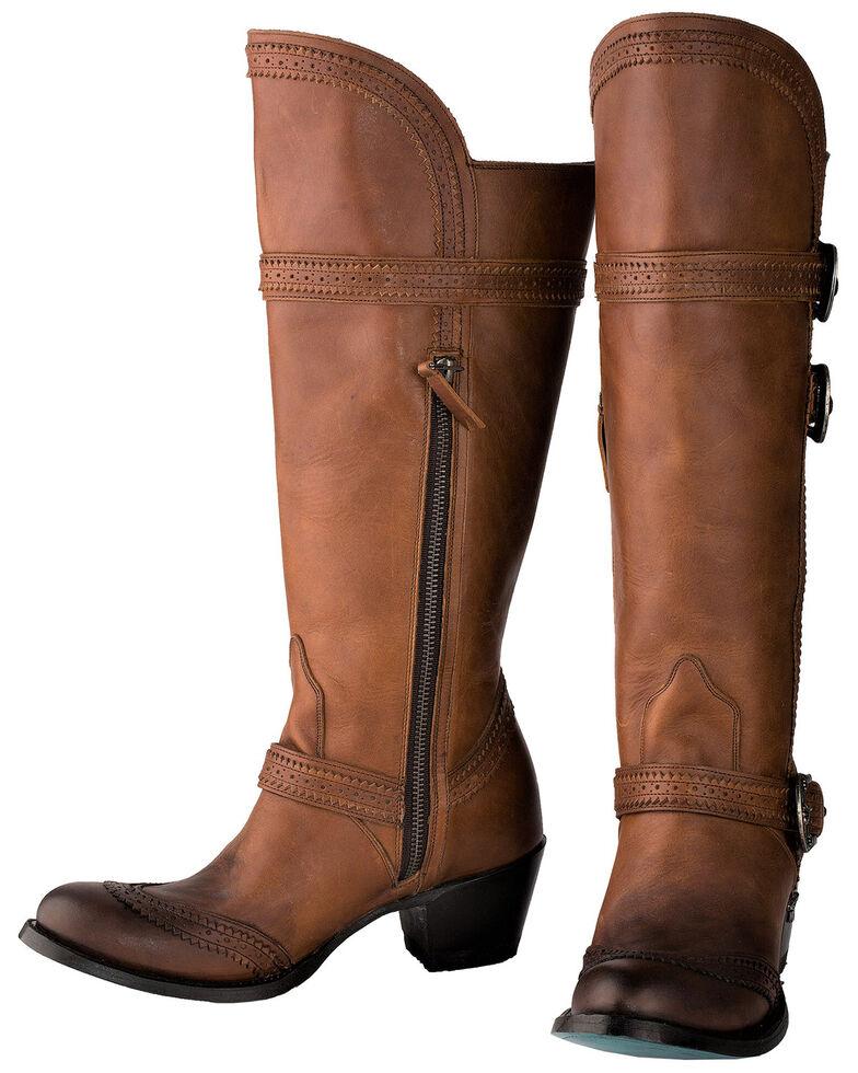 Lane Women's Sakes Alive Western Boots - Round Toe, Brown, hi-res