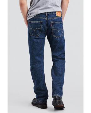 Levis Men's 505 Dark Stonewash Straight Fit Jeans , Blue, hi-res