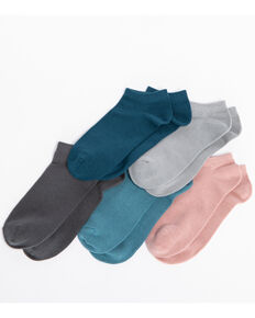 Shyanne Women's Solid 6-Pack No Show Socks, Multi, hi-res