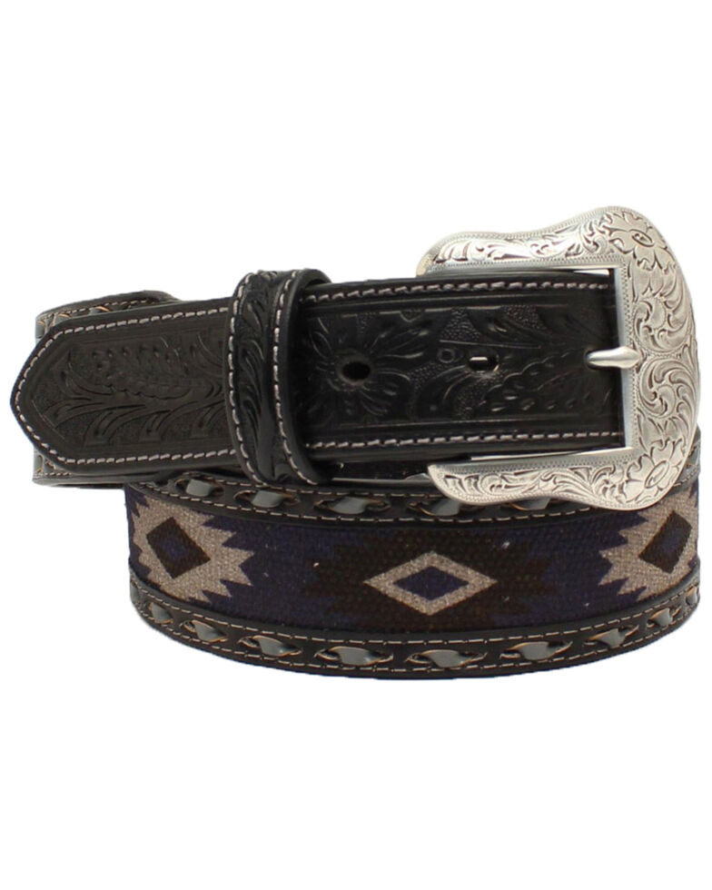 Nocona Men's Southwestern Fabric Western Belt, Grey, hi-res