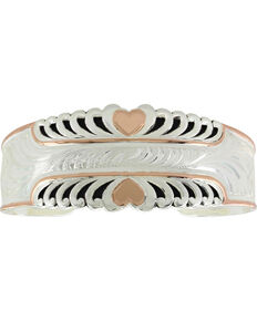 Montana Silversmiths Women's Bright Hearts Cuff Bracelet, Silver, hi-res