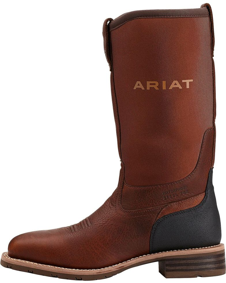 Ariat Men's Hybrid All-Weather WP Steel Toe Work Boots, Oiled Rust, hi-res