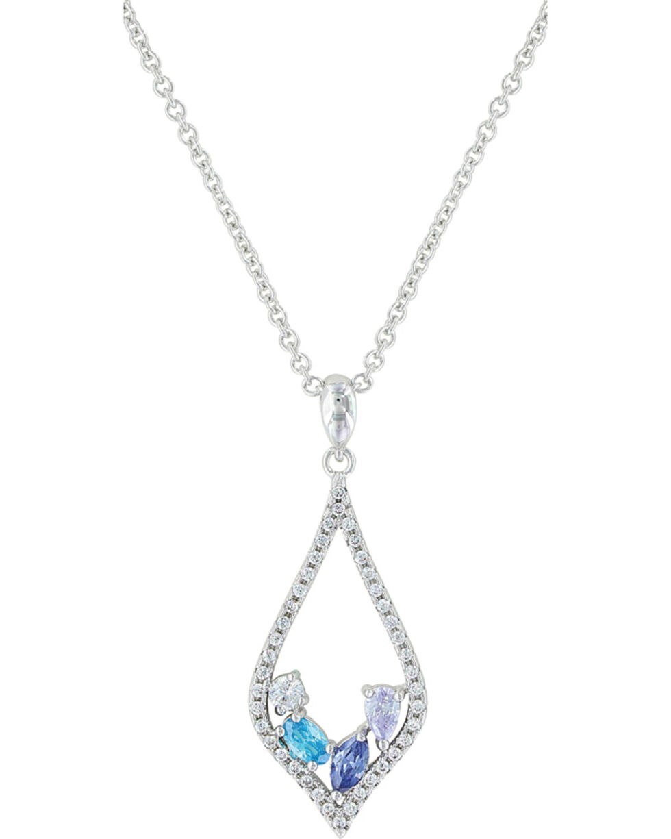 Montana Silversmiths Women's At The Water's Edge Teardrop Necklace , Silver, hi-res