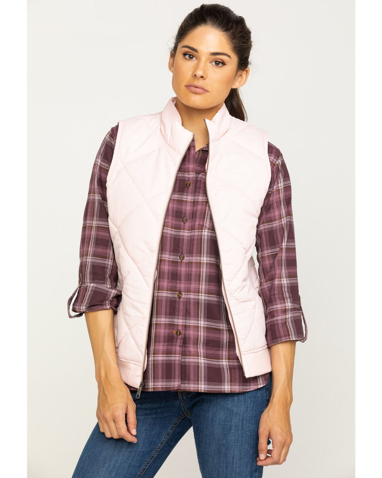 Dickies Women's Quilted Vest, Pink, hi-res
