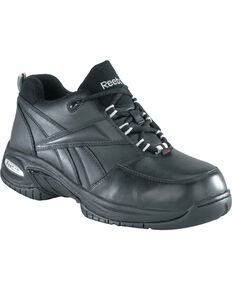 Reebok Women's Tyak Work Shoes - Composite Safety Toe, Black, hi-res