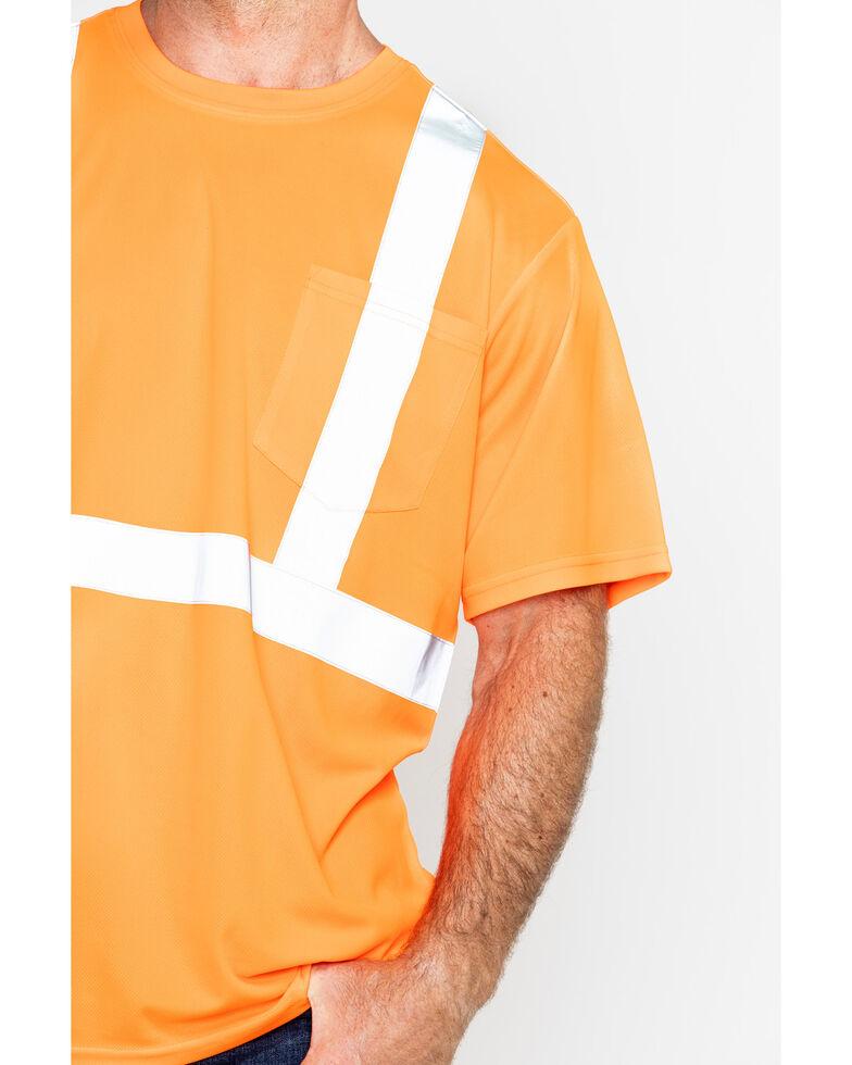 Hawx Men's Short Sleeve Reflective Work Tee - Big & Tall, Orange, hi-res
