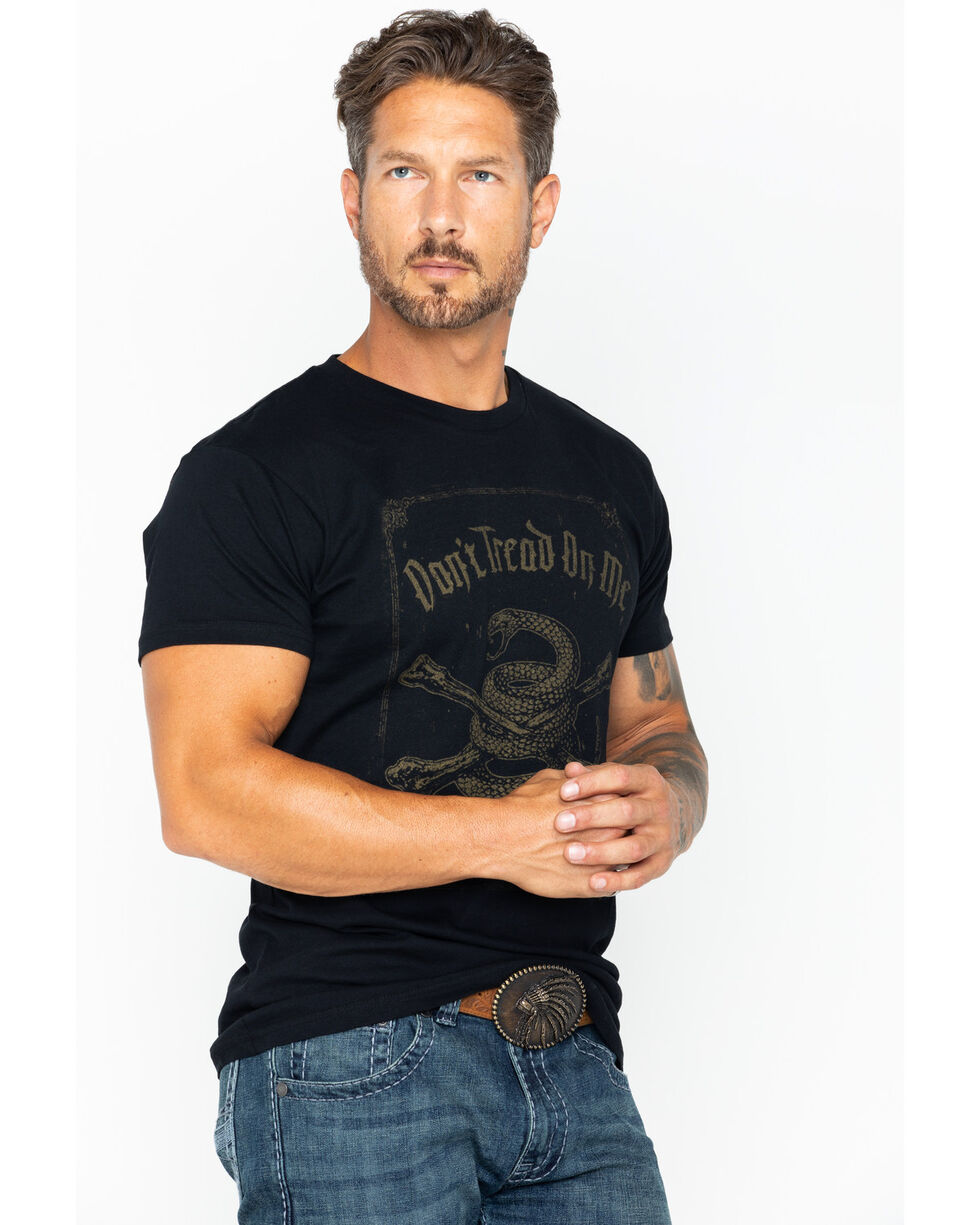 Brothers and Arms Don't Tread On Me Print T-Shirt, Black, hi-res