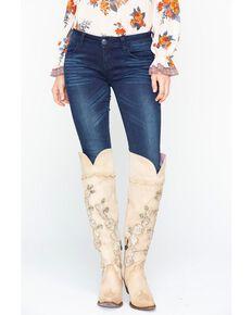 Grace in LA Women's Dark Blue Skinny Jeans, Indigo, hi-res