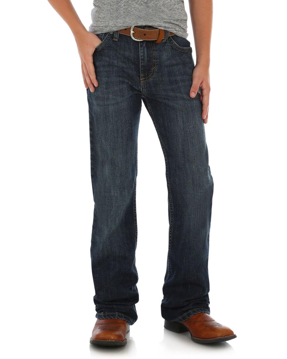 Wrangler Retro Boys' Relaxed Boot Alpine Stretch Jeans, Blue, hi-res