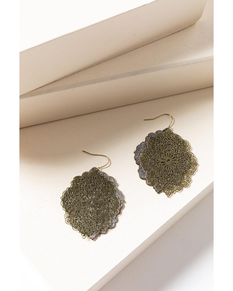 Shyanne Women's Gilded Gold Filagree Earrings, Gold, hi-res