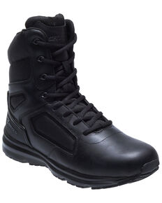 Bates Men's Raide Side Zip Work Boots - Soft Toe, Black, hi-res