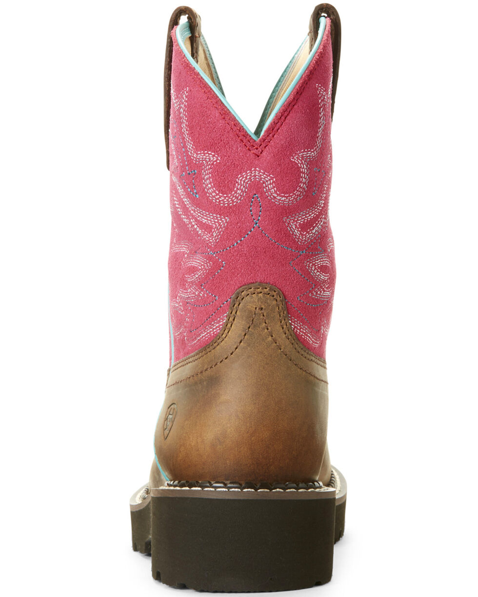 Ariat Women's Original Fatbaby Western Boots - Round Toe, Light Pink, hi-res