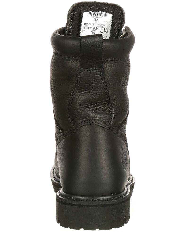 Georgia Boot Men's Lace-To-Toe Waterproof Work Boots - Steel Toe, Black, hi-res