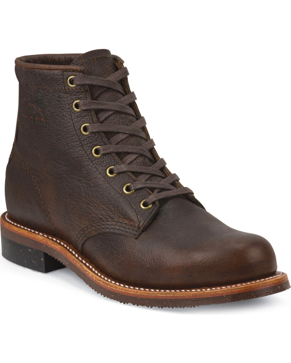 "Chippewa Men's 6"" Lace-Up Briar Pitstop Service Boots, Bark, hi-res"