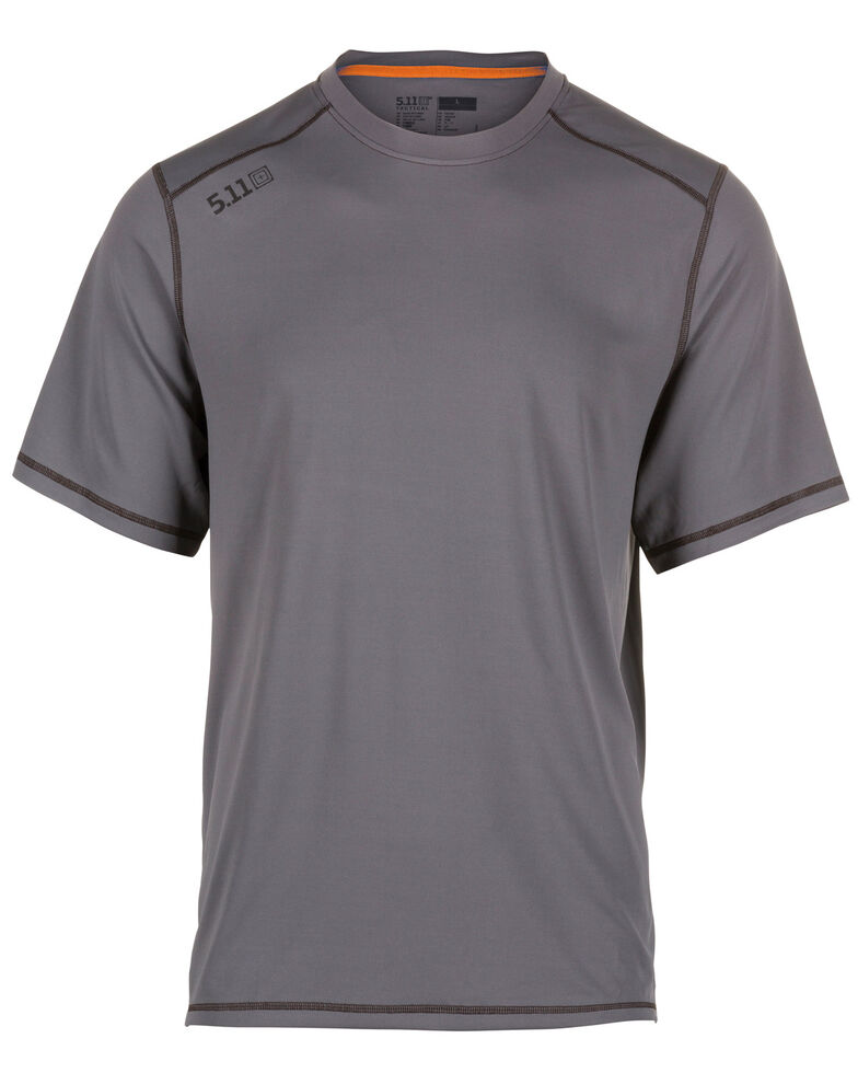 5.11 Tactical Men's Range Ready Short Sleeve Work T-Shirt , Grey, hi-res