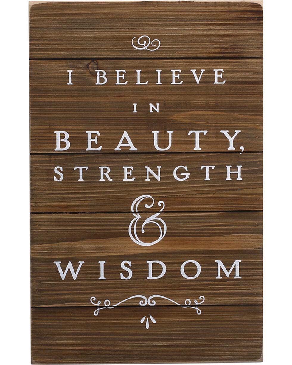 Demdaco Beauty, Strength, Wisdom Wall Art , Brown, hi-res