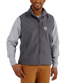 Carhartt Men's Charcoal Denwood Work Vest - Big , Charcoal, hi-res