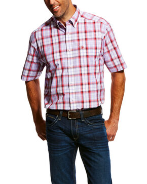 Ariat Men's Mowery Plaid Short Sleeve Western Shirt , Multi, hi-res