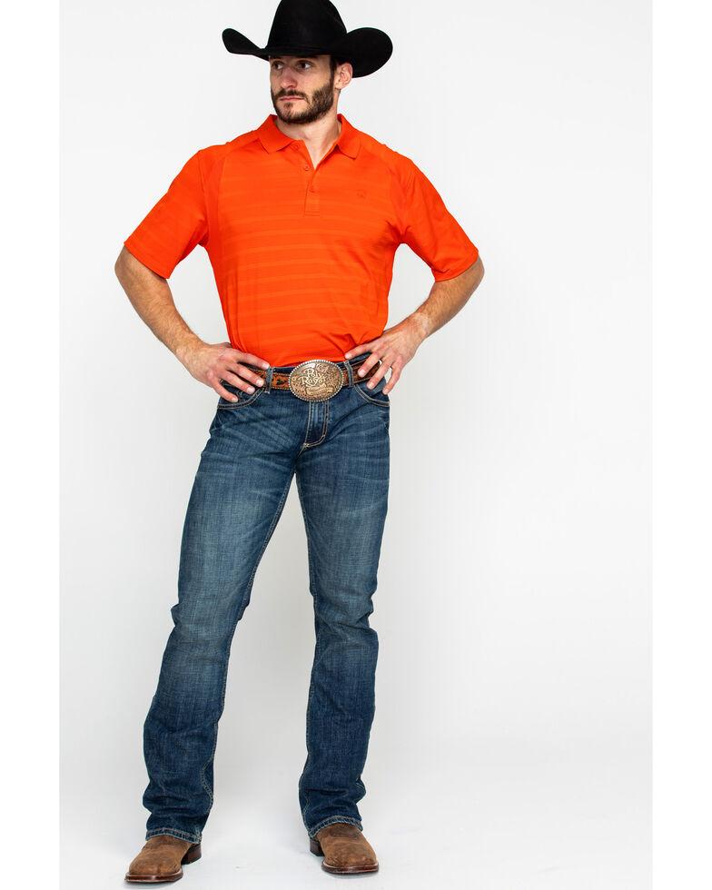 Ariat Men's VentTEK Hot Spark Polo Shirt, Red, hi-res