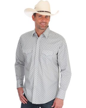 Wrangler Men's Silver Edition Western Shirt , Grey, hi-res