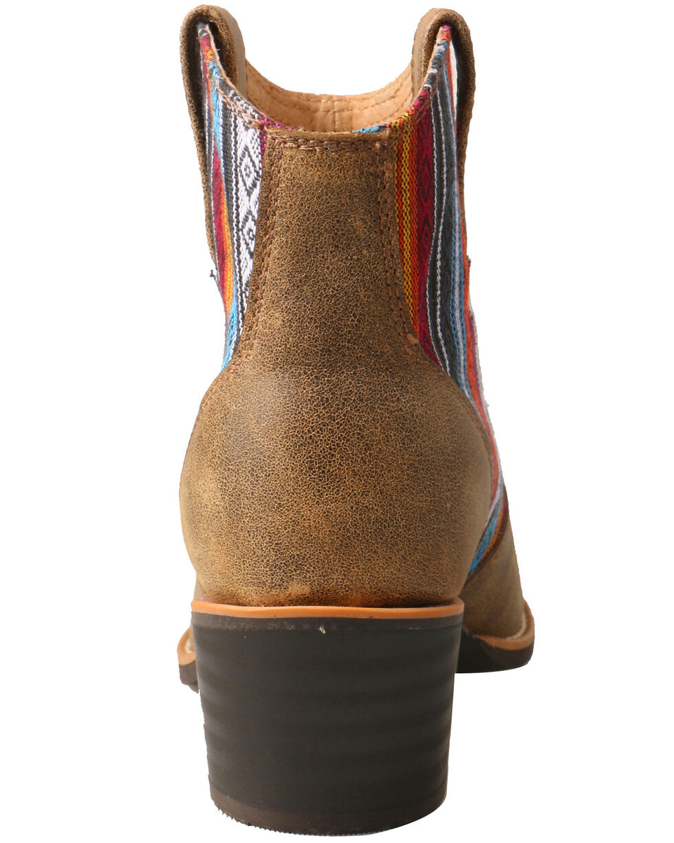 Twisted X Women's Serape Western Fashion Booties - Medium Toe, Brown, hi-res