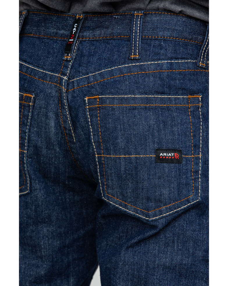 Ariat Men's FR Low Rise Durastretch Basic Straight Work Jeans , Blue, hi-res