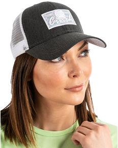 Cinch Women's Charcoal Logo Patch Trucker Cap , Charcoal, hi-res