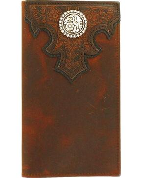 Ariat Men's Checkbook Rodeo Concho Wallet , Brown, hi-res
